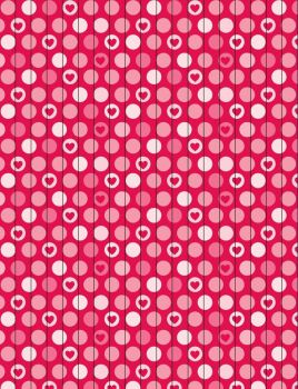 Hearts-Dots Star Paper by jakobie-coyote