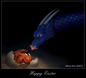 Easter Dragon by Silverfox5213