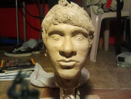 My face for sculpting class by FireDestined4