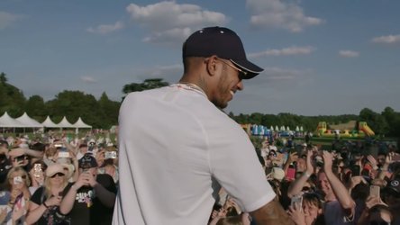 Me on Television with Lewis Hamilton by mdscarfaceone
