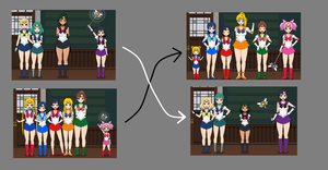 Reverse Sailor Scout by Dracoknight545