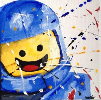 Lego spaceman by stonecoldpaintwerks