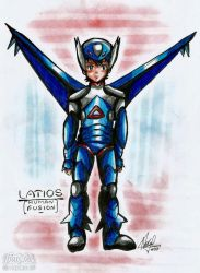 Pokemon: Human fusion with Lations by qBATGIRLq