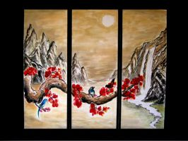 Chinese brush painting by jr1cookie