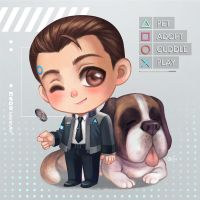 Connor and Sumo by LeorenArt