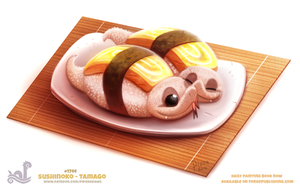 Daily Paint 1743# Sushinoko - Tamago by Cryptid-Creations