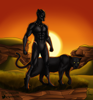 King T'challa The Black Panther by TJJones96