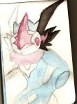 Watercolor test with Ash-Greninja (wip) by NeonNeoz