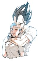 Vegeta and  Bulma by oume12