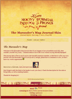 Marauder's Map Journal Skin by extraordi-mary