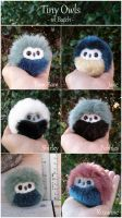 Tiny owls now on Etsy! by demiveemon
