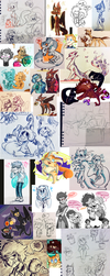 Doodle Dump early 2018 by NoasDraws