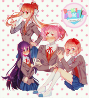 DokiDokiLiteratureClub by Pita-potato