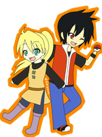 chibi yellow and red by mo0on3