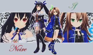 Noire and IF by xCOLOURz