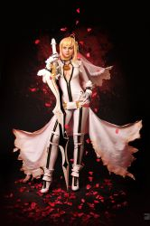 Saber bride cosplay / fate extra CCC 5 by SelenaAdorian