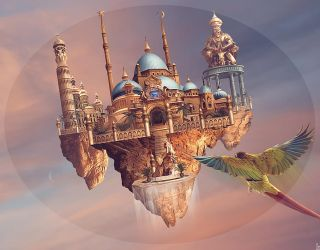 Flying City by Nikulina-Helena