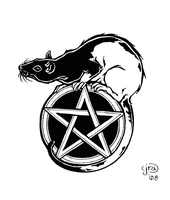 Rat and Pentacle by Aycelcus