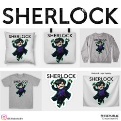 Sherlock on Teepublic by KheeKhee