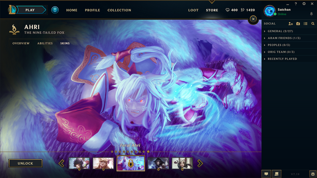 Feral Ahri League of Legends Skin Selection by SatchanSatchiiSan