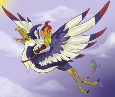 -Skyward Sword- Groose and Loftwing by Godspoison