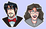 stickers: jericho and evelyn edition by Chandler666Bing