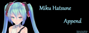 Miku Hatsune Append Timeline Cover by g-girl1