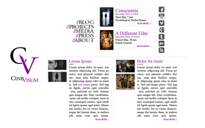 CineVisum 2011 website design by FutureMillennium