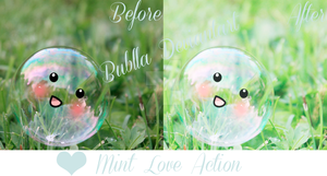 Mint Love Photoshop Action by Bublla