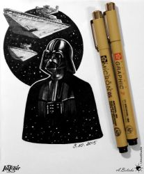 Vader - Star Wars X InkTober / 09 10 2015 by UnicatStudio