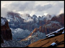 Storm clearing canyon overlook by themobius