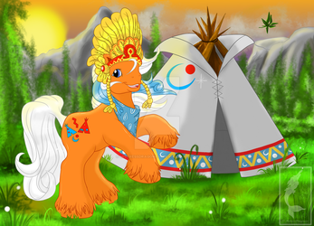 Big Brother Wigwam in the Woods by MistressDragoness