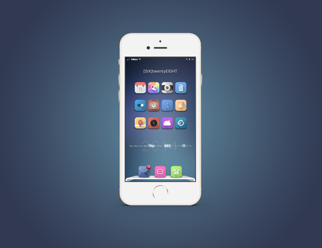 iOS Time.Date.Weather Widget by d0ink