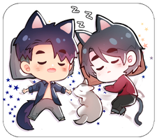 Chibi jj and seung-gil by wish114