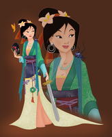 Disney Princess Mulan by Ohanamaila