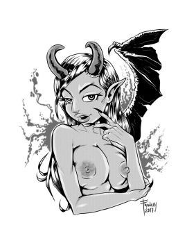 Winged Demonezz by snarebang