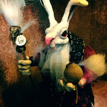 Necromancer Rabbit - Witch Doc - Art Doll - OOAK by aGrimmDesign