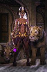 Draenei with Tigers by LillithI