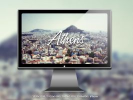 Athens Tiltshift Wallpaper by ibRC