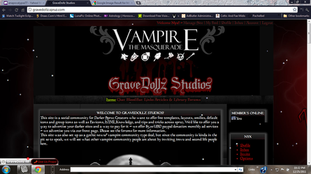 Vampire The Masquerade Gaming Template by anapocalypse77