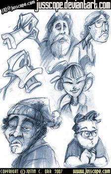 Various Character Sketches by jusscope