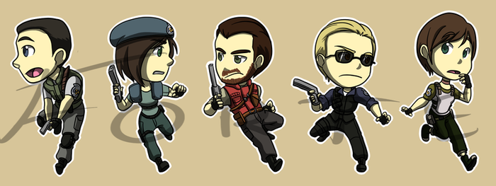 Stickers: Resident Evil 1 by forte-girl7