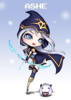 Fan Art LOL Chibi Ashe by PuddingzZ