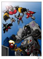 Whelljeck's Stunticons vs Aerialbots colors by I-SithLord