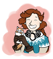 Reynir and Purrito by pinearts
