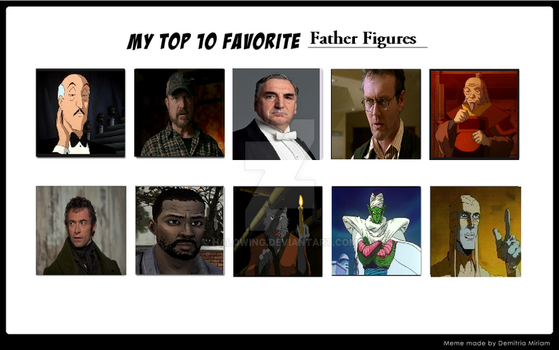 My Top Ten: Father Figures. Happy Father's day. by Halowing
