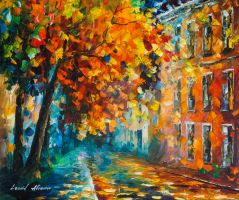 The Autumn Of The City by Leonid Afremov by Leonidafremov