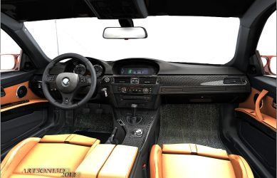 Inside BMW m3 E 92 by Artsoni3D