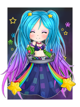 Chibi Arcade Sona - League of Legends by linkitty