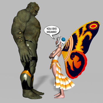Godzilla vs Mothra by Sailmaster-Seion